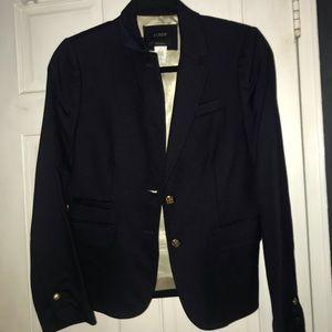Navy J. Crew schoolboy blazer